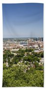 Downtown Birmingham Alabama On A Clear Day Beach Towel