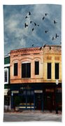 Downtown Bryan Texas Panorama 5 To 1 Beach Towel
