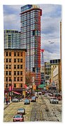 Downtown Hdr Beach Towel