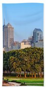 Downtown Philadelphia Skyline Beach Towel