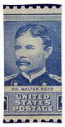Dr Walter Reed Postage Stamp Beach Towel