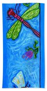 Dragonfly And Bee Beach Towel