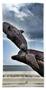 Dramatic Dolphins Beach Towel