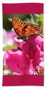 Dreaming Of Butterflies And Pink Flowers Beach Towel