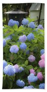 Dreamy Blue And Pink Hydrangeas Beach Towel
