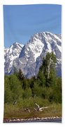 Driftwood And The Grand Tetons Beach Towel