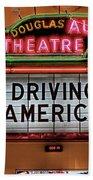 Driving America Douglas Auto Theatre Beach Towel