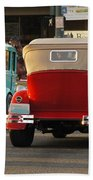 Driving Off Into History Beach Towel