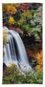 Dry Falls Or Upper Cullasaja Falls Beach Towel
