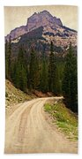 Dubois Mountain Road Beach Towel