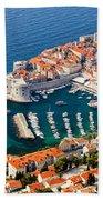 Dubrovnik Old City Aerial View Beach Towel