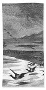 Duck Hunting, 1871 Beach Towel