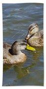 Ducks In The Sun Beach Towel
