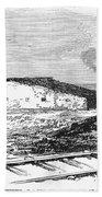 Dugout Home, 1871 Beach Towel
