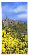 Dunluce Castle, Co. Antrim, Ireland Beach Towel
