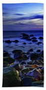Dusk At Montauk Point Beach Towel