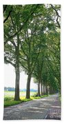 Dutch Road - Digital Painting Beach Towel