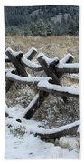 Early Fall Snow Beach Towel
