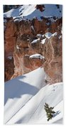 Early Morning Snow In Bryce Canyon Beach Towel