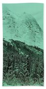 Early Snow In The Mountains  Beach Towel