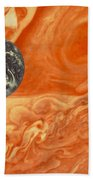 Earth And Jupiter Beach Towel