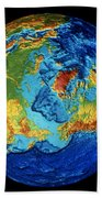 Earth: Topography Beach Towel