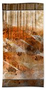 Earthtones Abstract Beach Towel