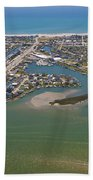 East Coast Aerial Beach Towel