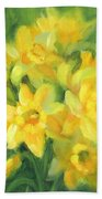 Easter Daffodils Beach Towel