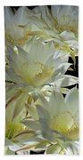 Easter Lily Cactus Bouquet Beach Towel