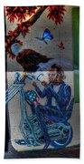 Easy Rider Mural Route 66 Beach Towel