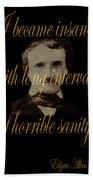 Edgar Allan Poe 2 Beach Towel