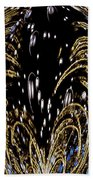 Effervescent Golden Arches Abstract Beach Towel by Carolyn Marshall