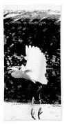 Egret In Flight V5 Beach Towel
