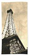 Eiffel Tower At Dusk Beach Towel
