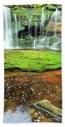 Elakala Falls Portrait Beach Towel