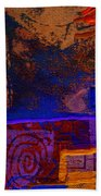 Electric Blue Patterns Beach Towel