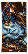 Electric Blue Beach Towel by Ron Bissett
