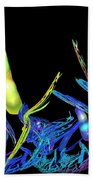 Electric Fractal Garden Beach Towel