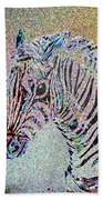 Electric Zebra Beach Towel
