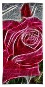 Electrostatic Rose Beach Towel