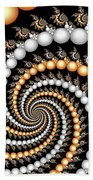 Elegant Swirls Beach Towel