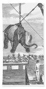 Elephant Hoist, 1858 Beach Towel
