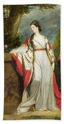 Elizabeth Gunning - Duchess Of Hamilton And Duchess Of Argyll Beach Towel by Sir Joshua Reynolds