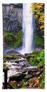 Elowah Falls 2 Beach Towel