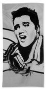 Elvis In Black And White Beach Towel