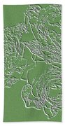 Embossed Roses Beach Towel by Will Borden