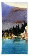 Emerald Lake Lodge B.c Beach Towel