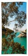Emerald Lake With Duke House I. El Chorro. Spain Beach Towel