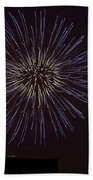 Empire State Fireworks Beach Towel by Susan Candelario